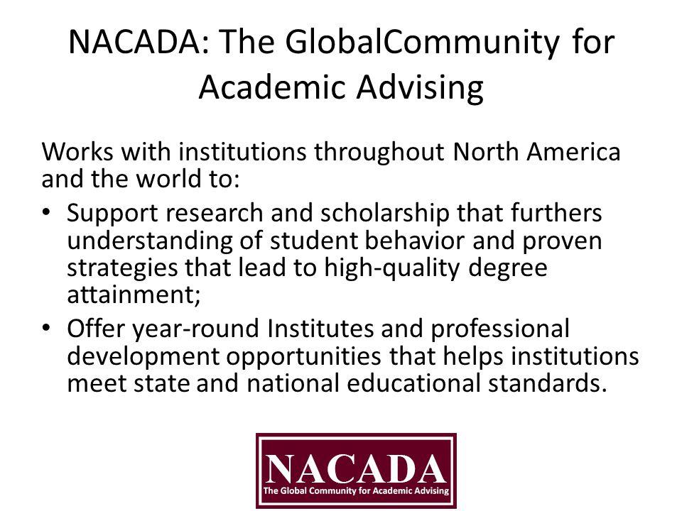 NACADA: The GlobalCommunity for Academic Advising