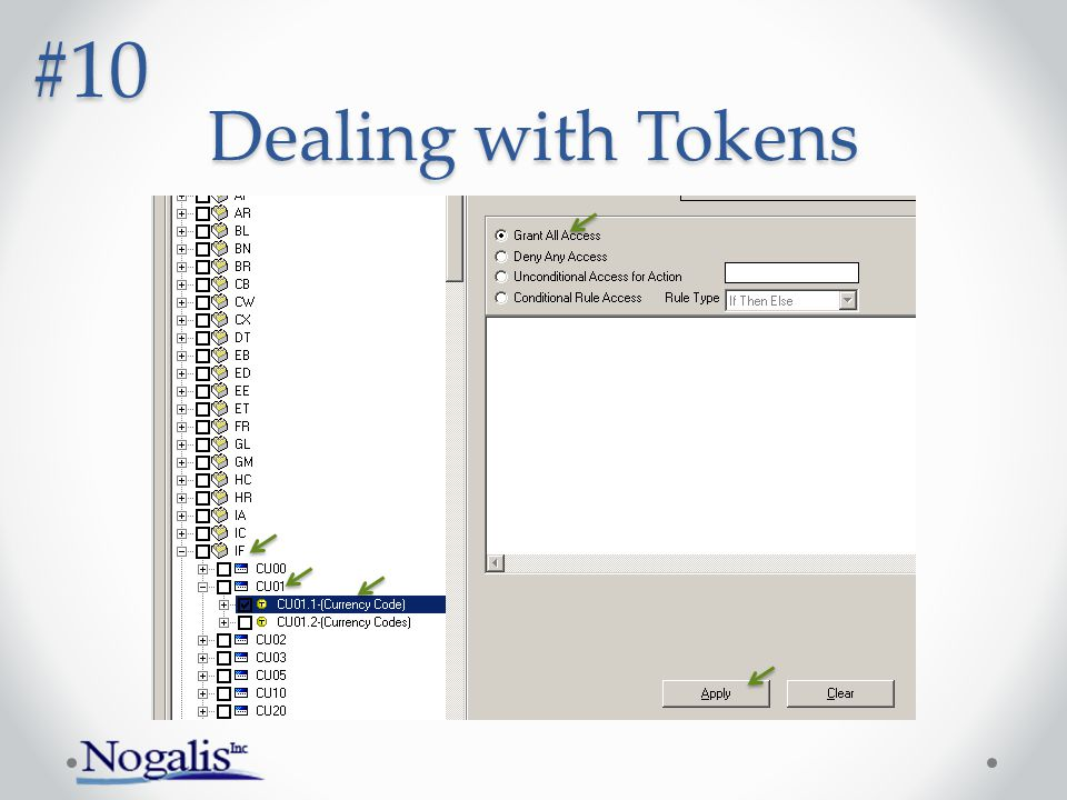 Dealing with Tokens #10