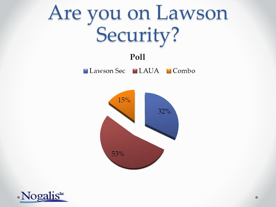 Are you on Lawson Security