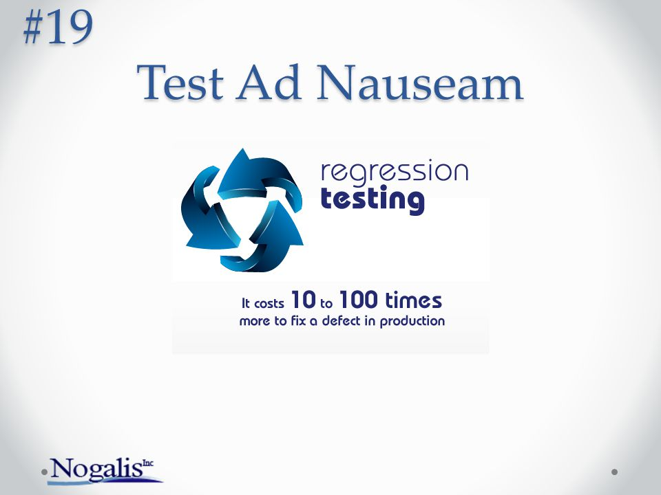 Test Ad Nauseam #19