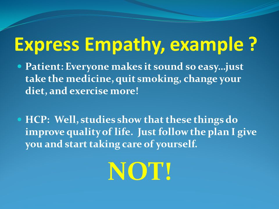 Express Empathy, example