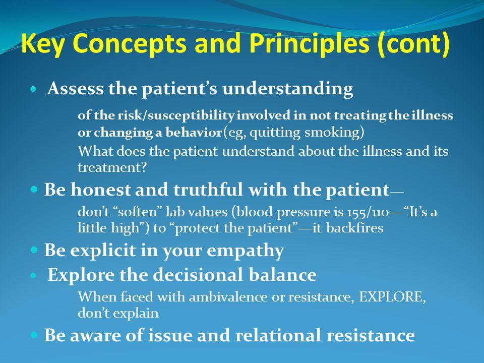 Key Concepts and Principles (cont)