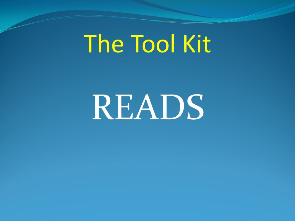 The Tool Kit READS