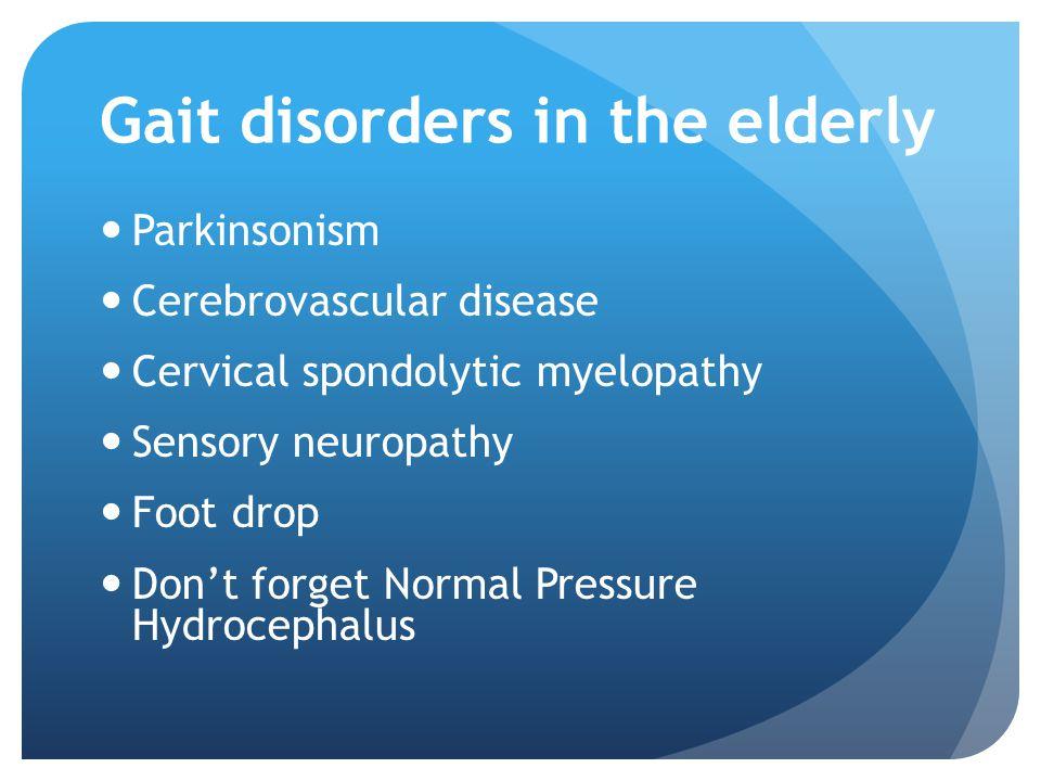 Gait disorders in the elderly
