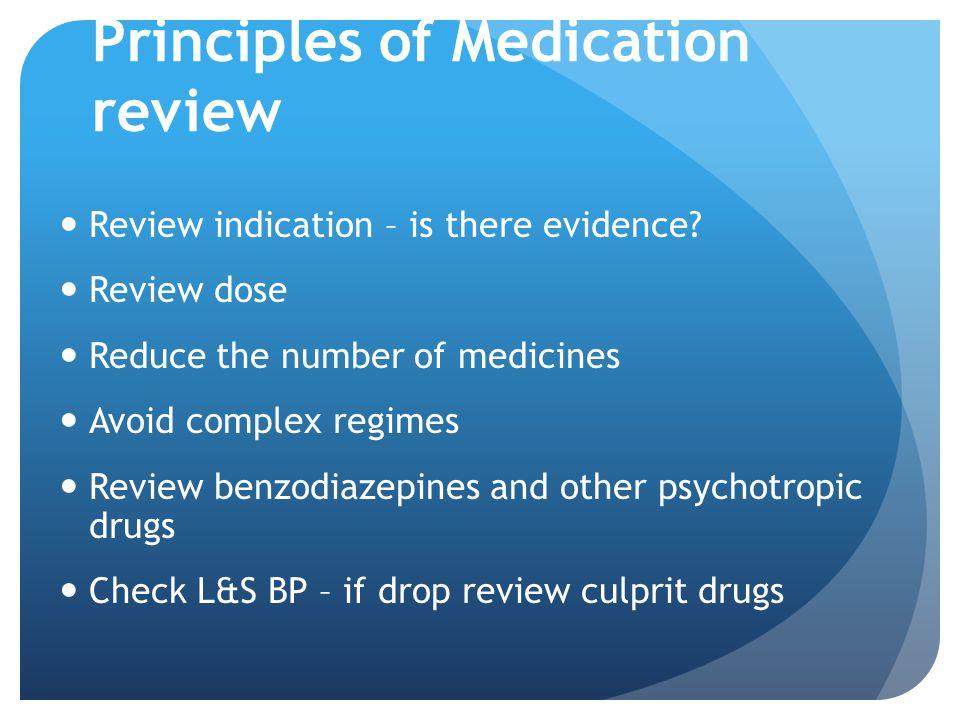 Principles of Medication review