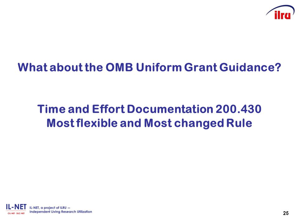 What about the OMB Uniform Grant Guidance