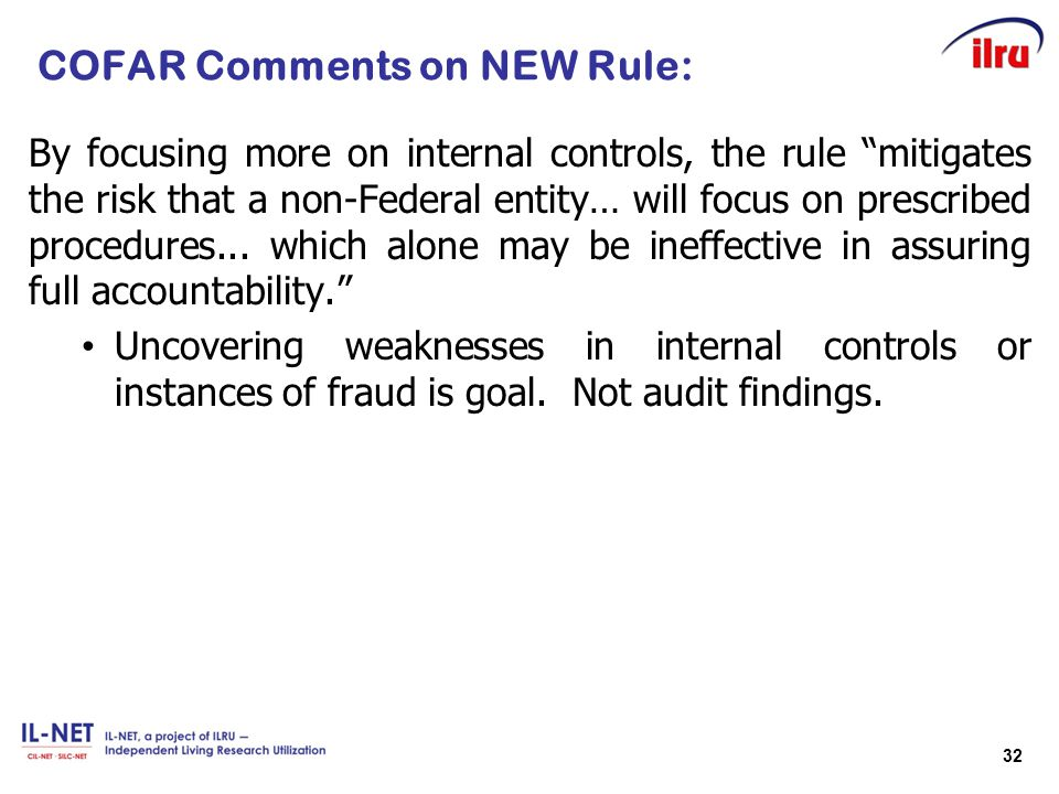 COFAR Comments on NEW Rule:
