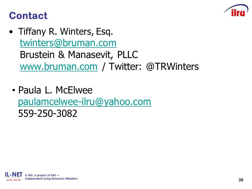 Brustein & Manasevit, PLLC www.bruman.com / Twitter: @TRWinters
