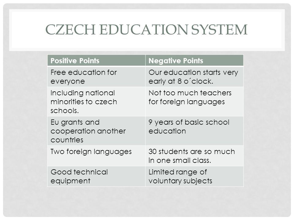 Czech education system