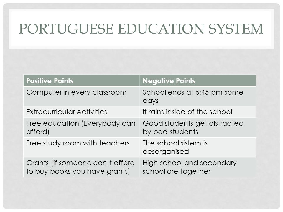 portuguese education system