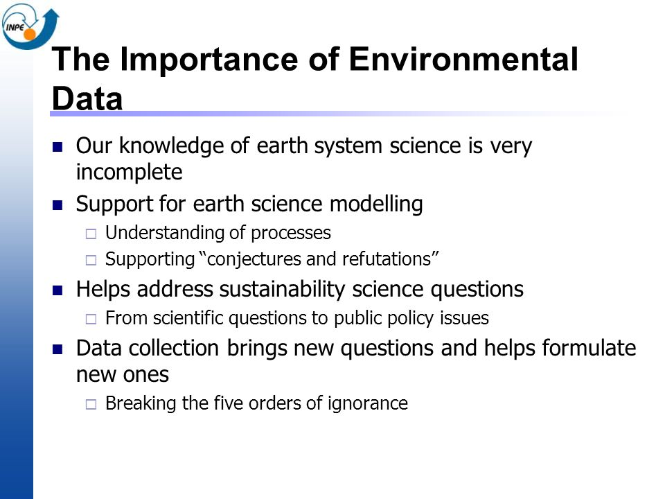 The Importance of Environmental Data