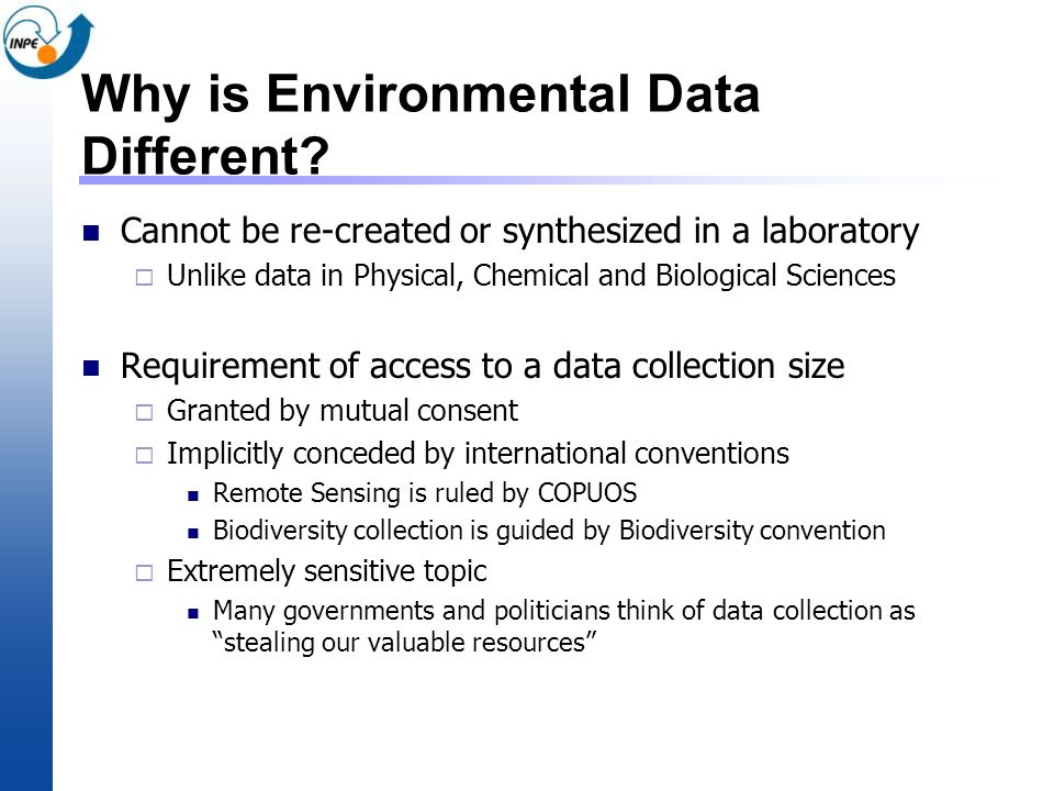 Why is Environmental Data Different