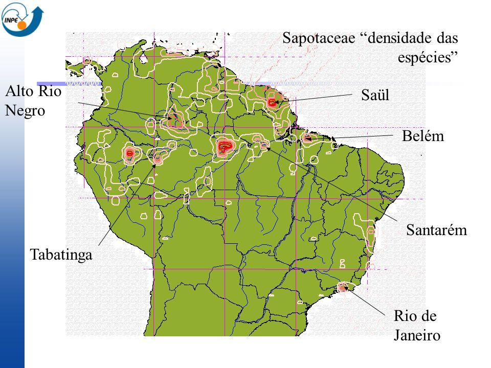 Sapotaceae densidade das espécies