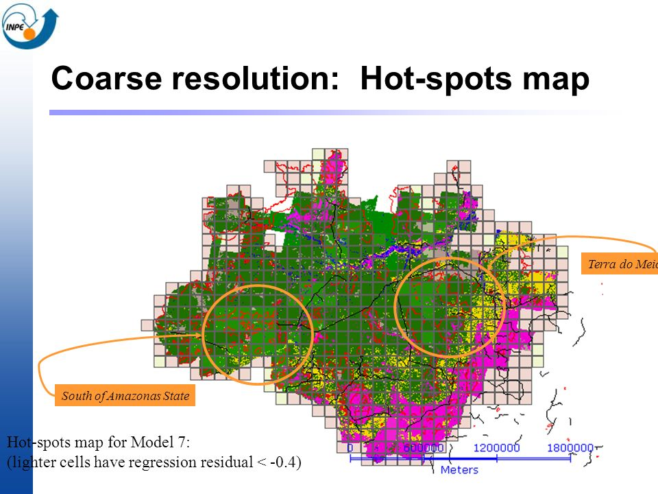 Coarse resolution: Hot-spots map