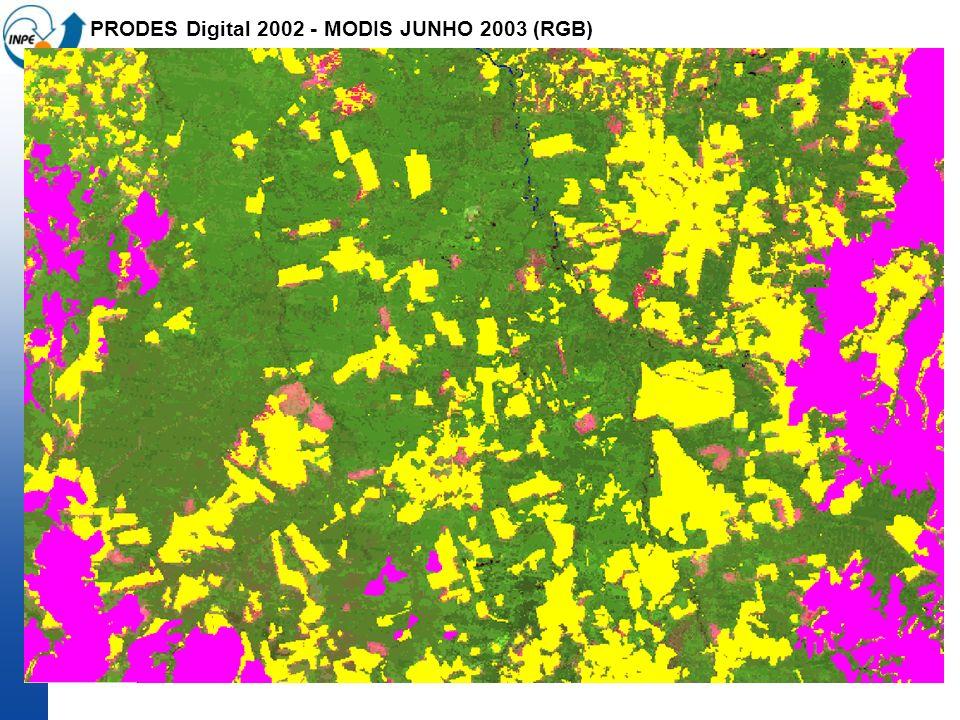 PRODES Digital 2002 - MODIS JUNHO 2003 (RGB)