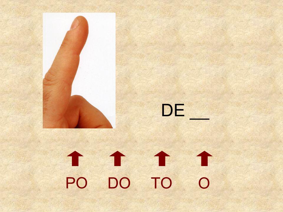 DE __ PO DO TO O