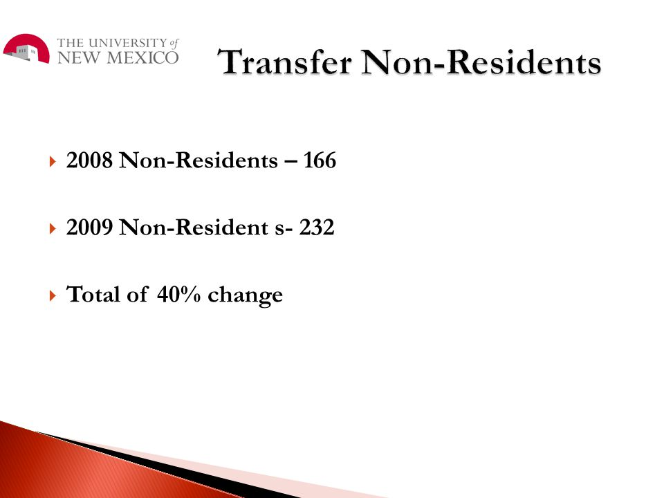 Transfer Non-Residents