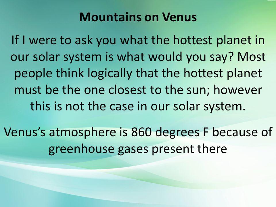 Mountains on Venus