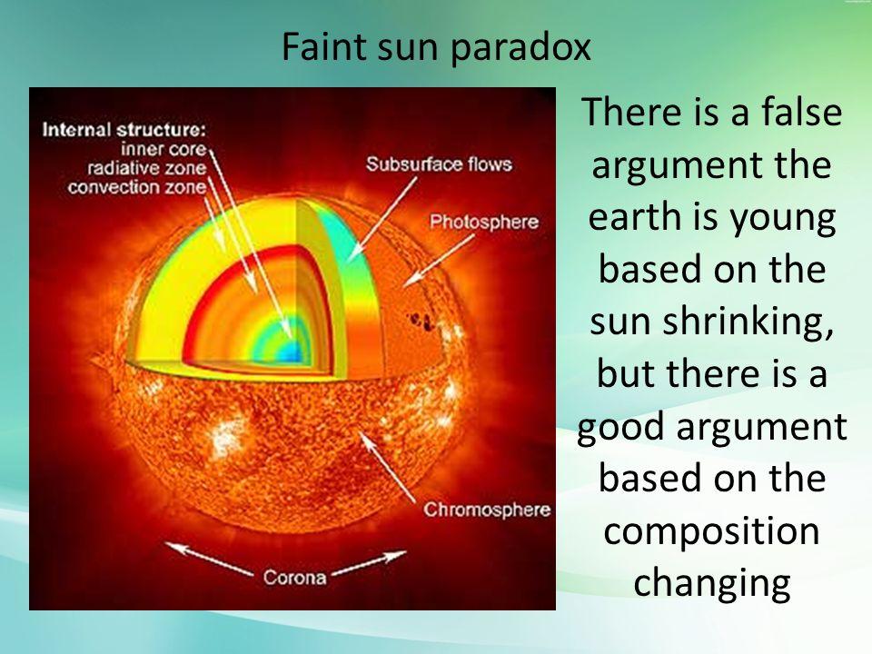 Faint sun paradox