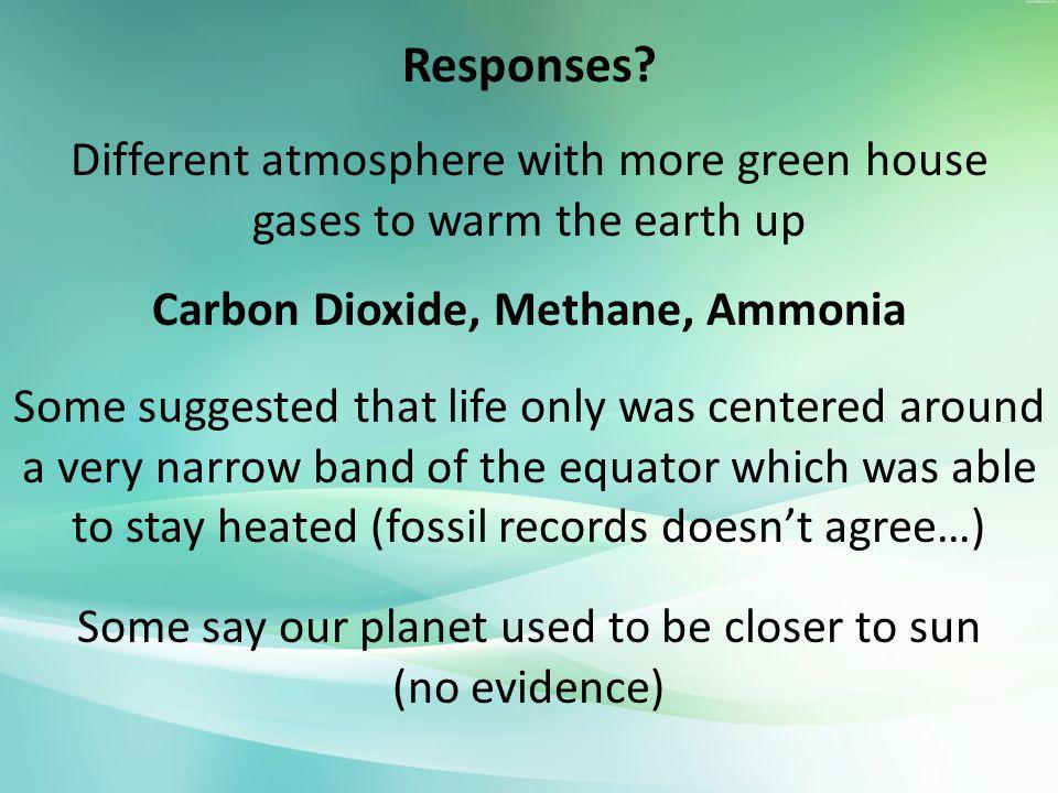 Carbon Dioxide, Methane, Ammonia