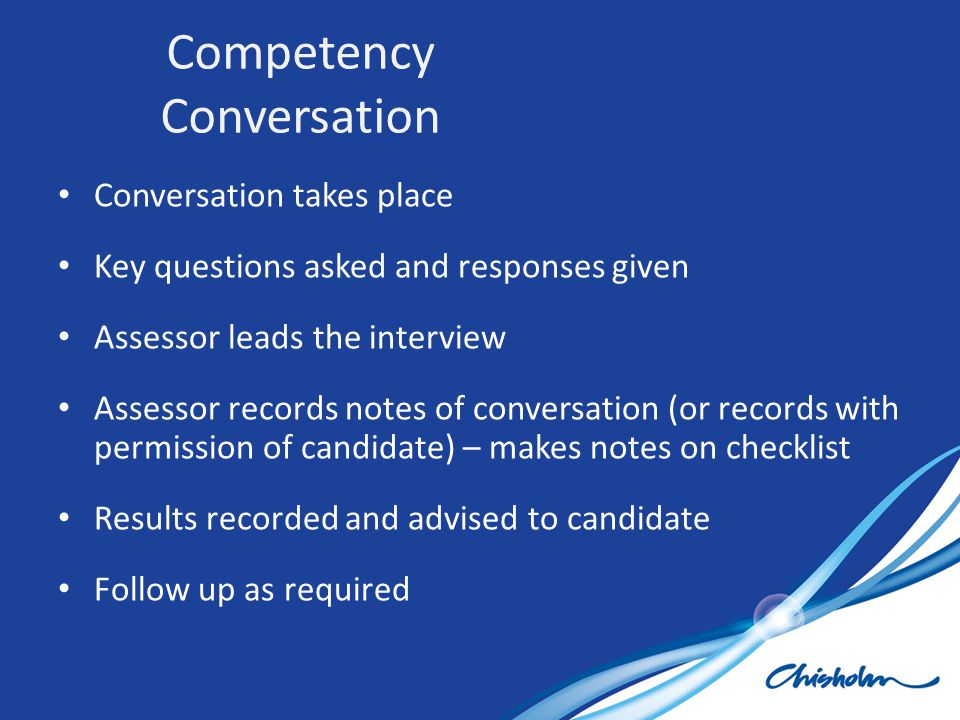 Competency Conversation
