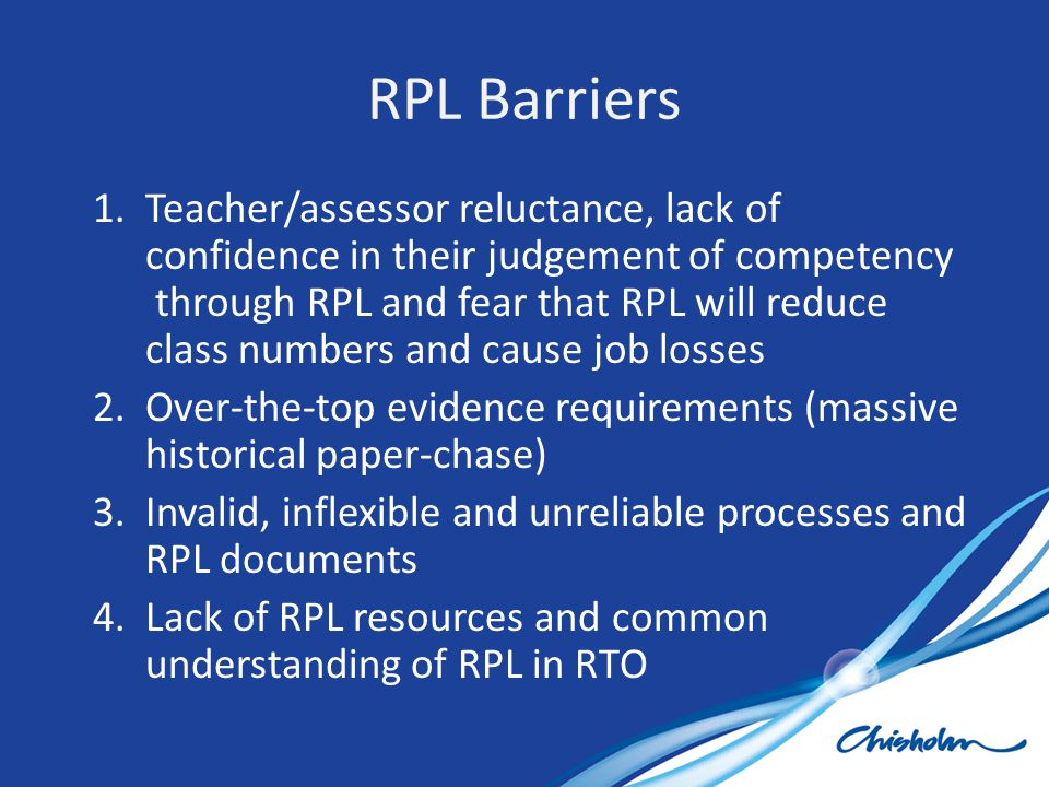 RPL Barriers