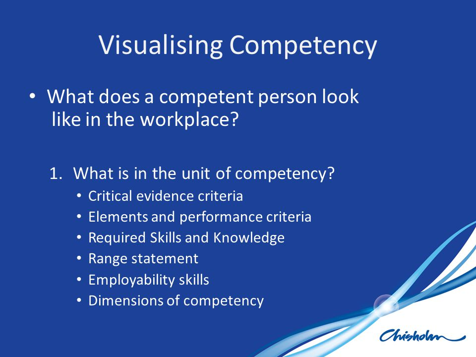 Visualising Competency