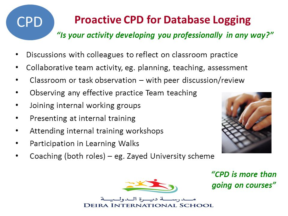 CPD is more than going on courses