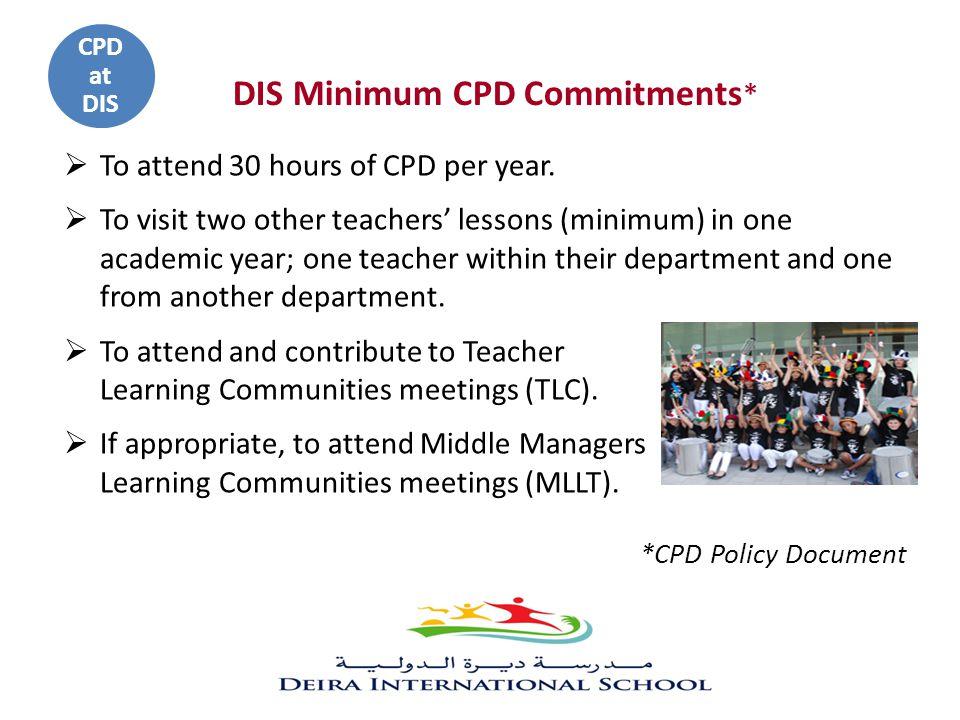 DIS Minimum CPD Commitments*