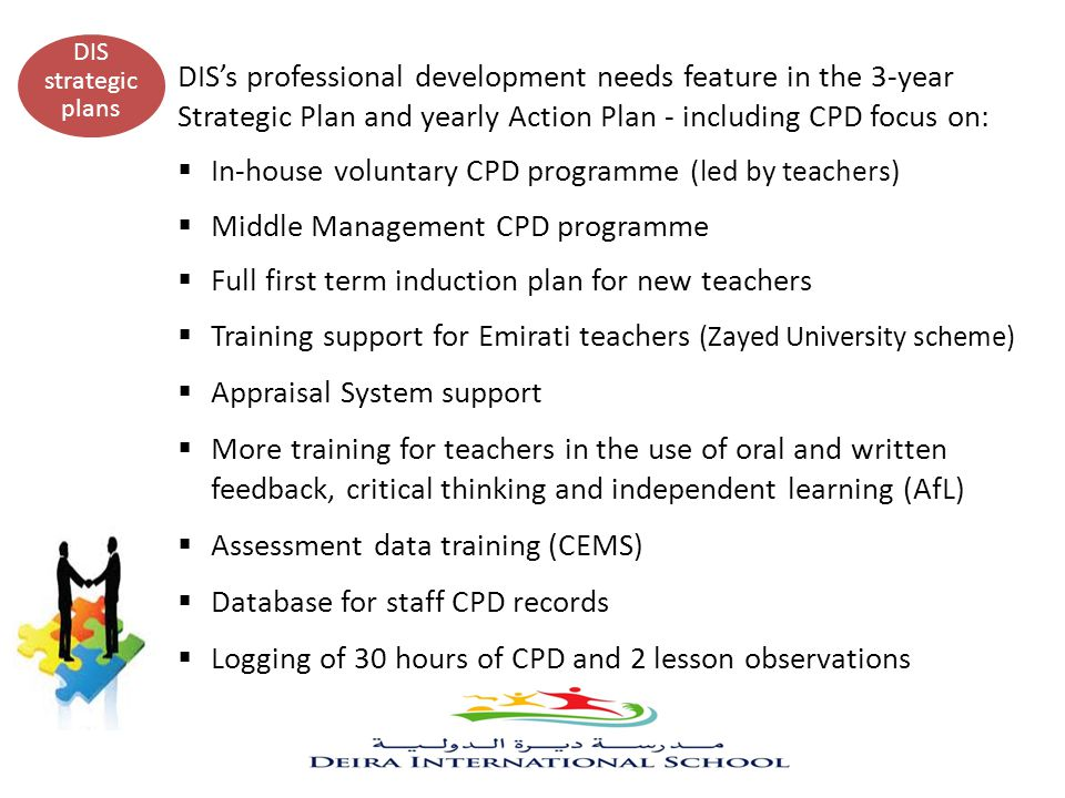 In-house voluntary CPD programme (led by teachers)