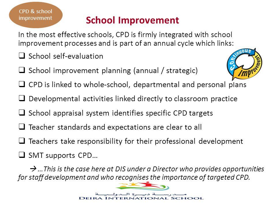 CPD & school improvement
