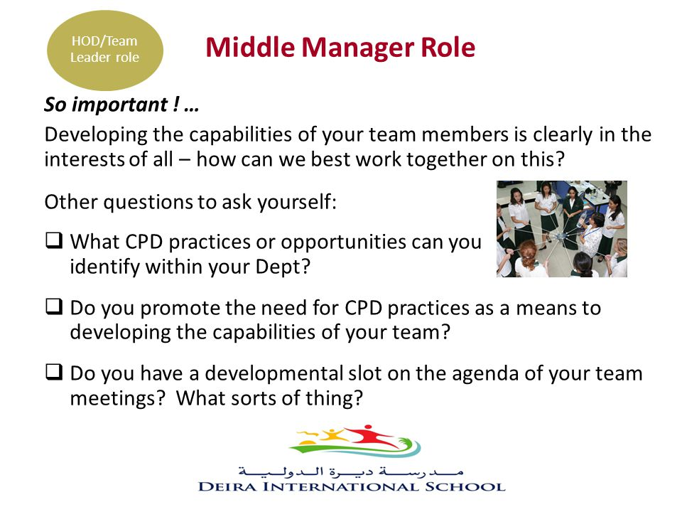 Middle Manager Role So important ! …