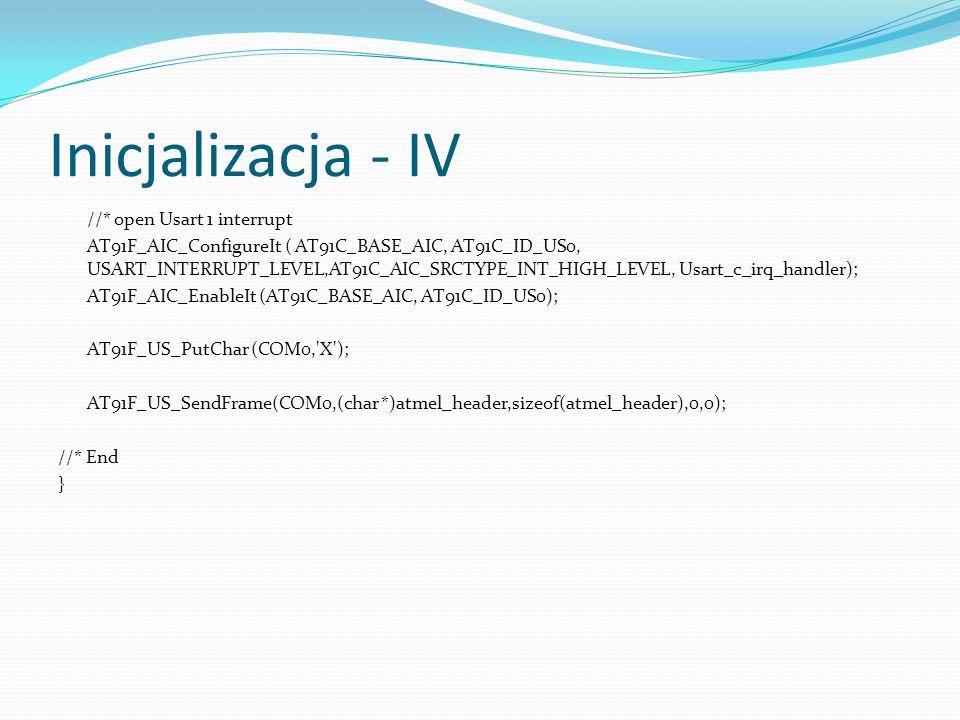 Inicjalizacja - IV