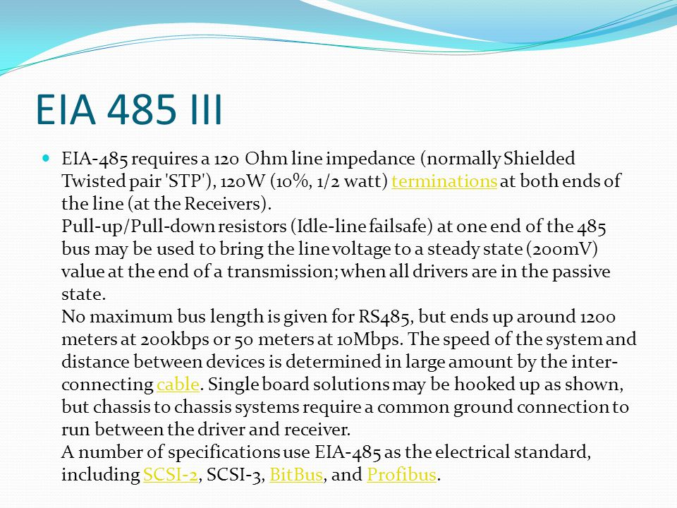 EIA 485 III