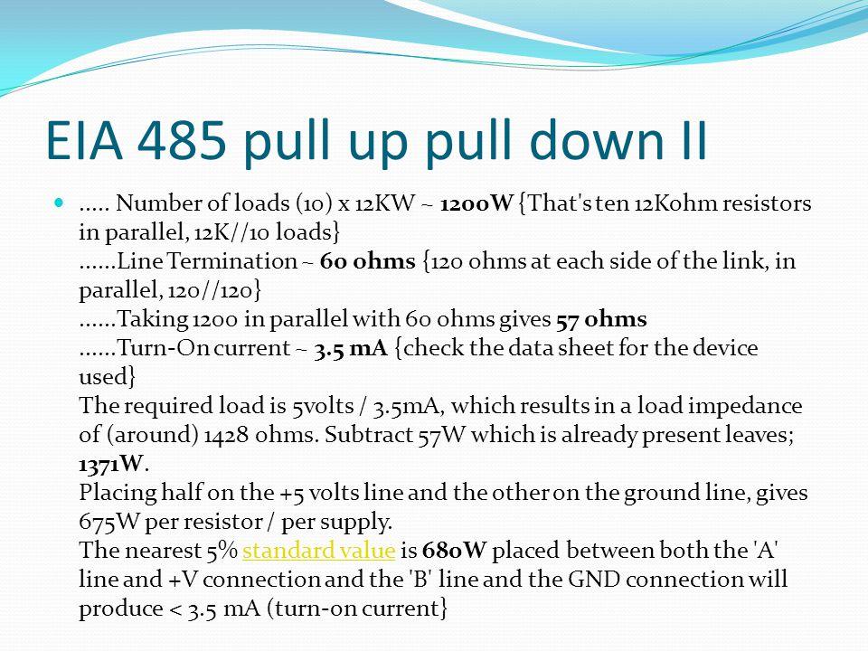 EIA 485 pull up pull down II