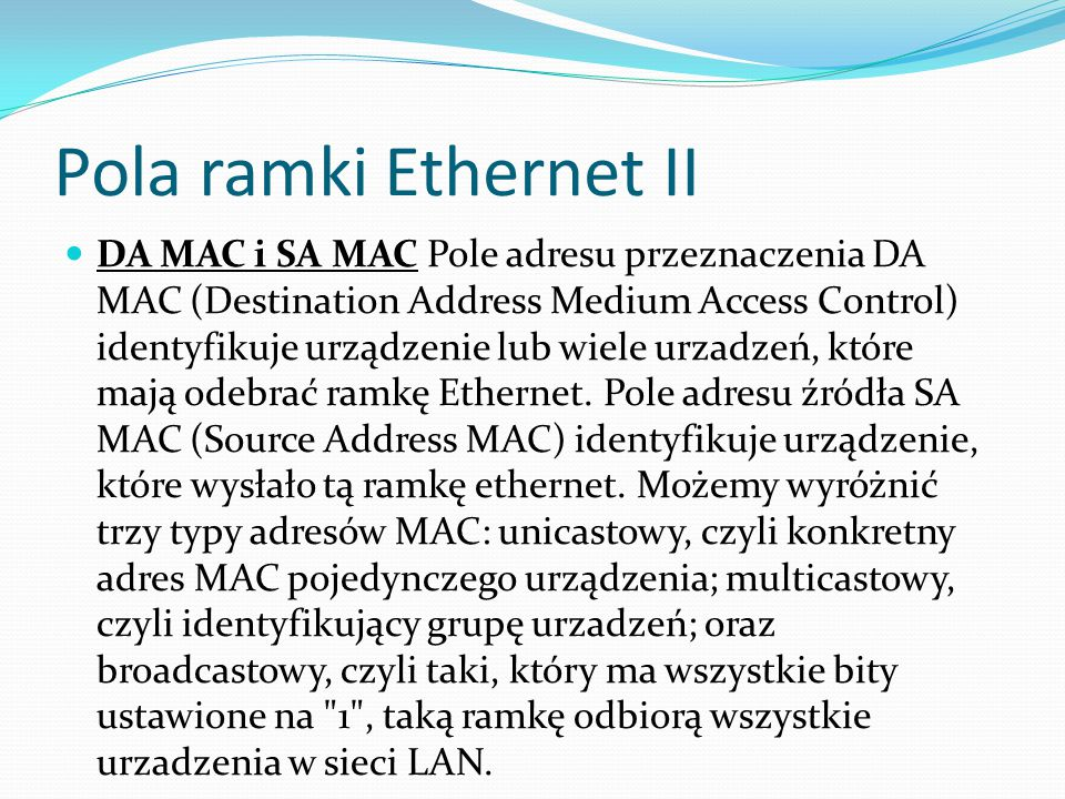 Pola ramki Ethernet II