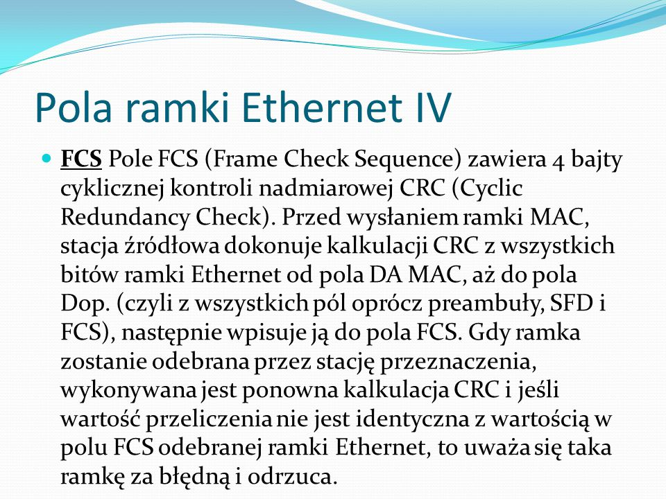 Pola ramki Ethernet IV
