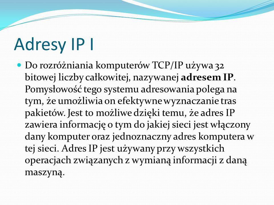 Adresy IP I