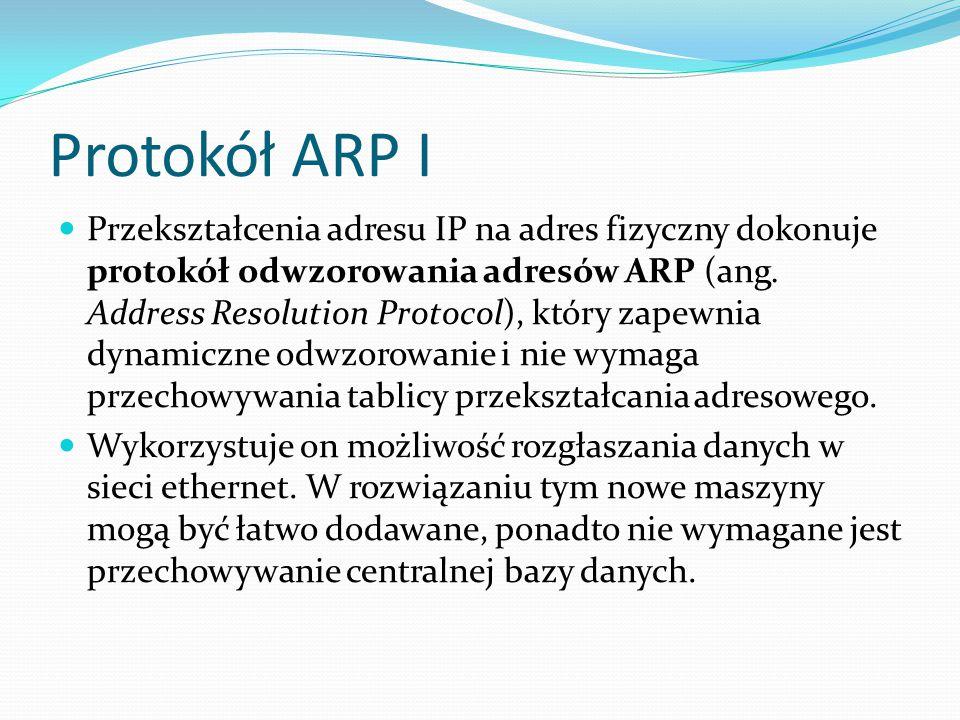 Protokół ARP I
