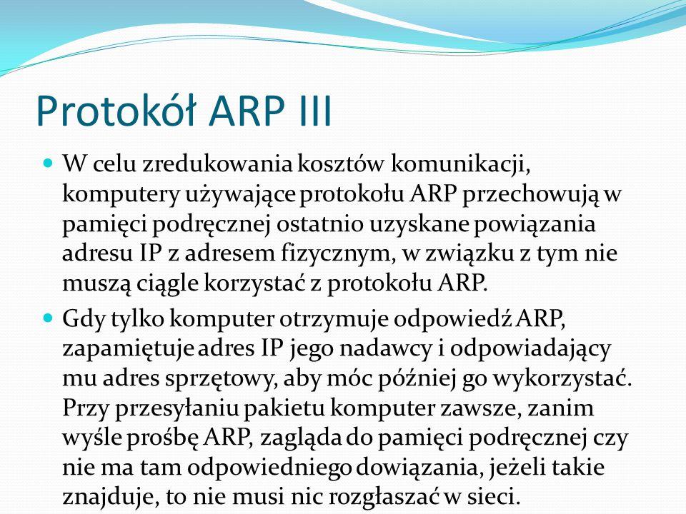 Protokół ARP III