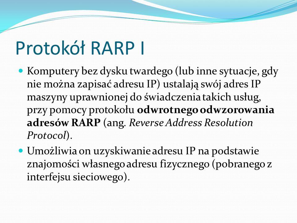 Protokół RARP I