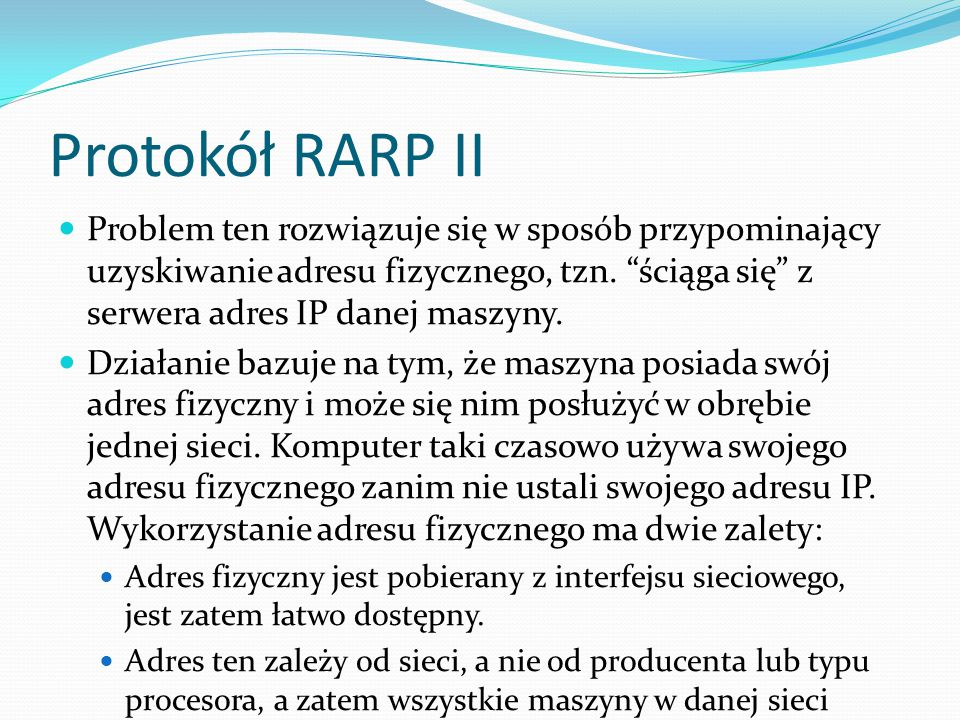 Protokół RARP II