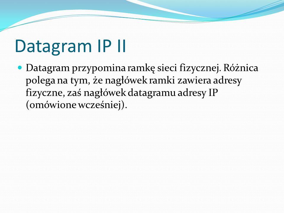 Datagram IP II