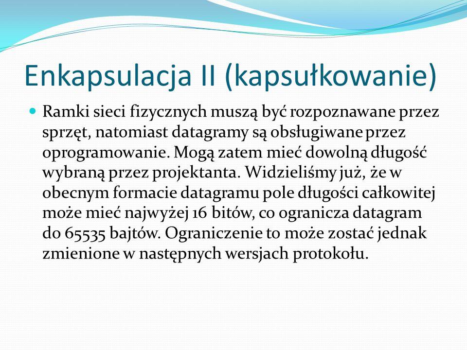 Enkapsulacja II (kapsułkowanie)
