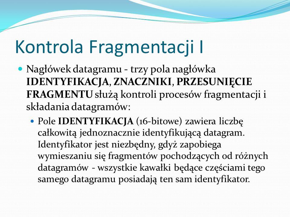 Kontrola Fragmentacji I