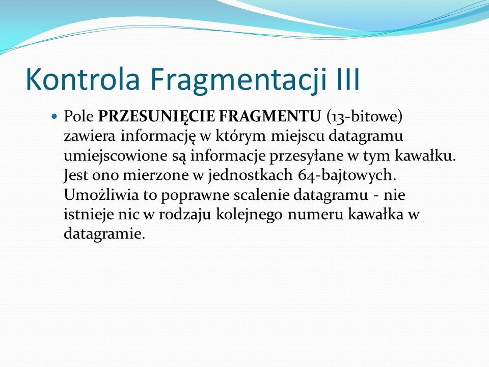Kontrola Fragmentacji III
