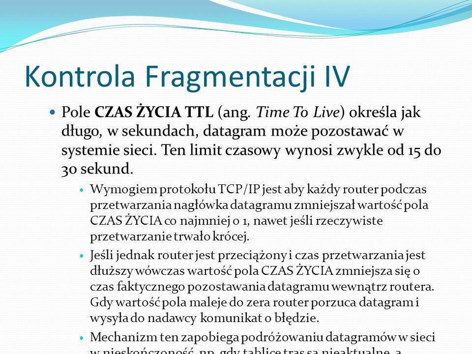 Kontrola Fragmentacji IV