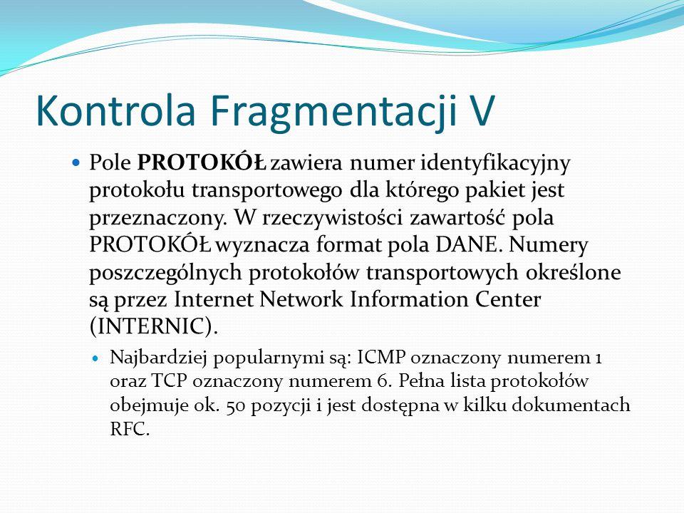 Kontrola Fragmentacji V