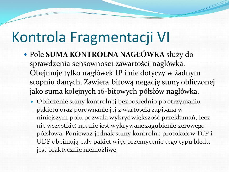 Kontrola Fragmentacji VI