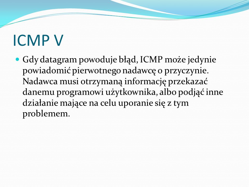 ICMP V